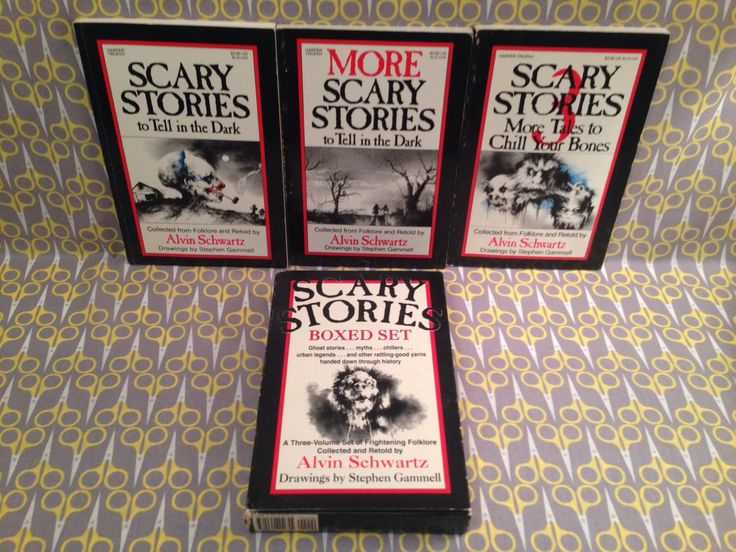 Scary Stories To Tell In The Dark Boxed Set By Alvin Schwartz Paperback Books Stephen Gammell Art Horror Trilogy Original Vintage
