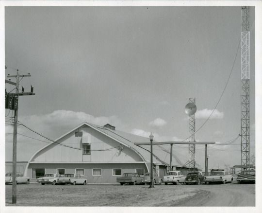 The CHCA (later CKRD) television station on the Divide Hill east of Red Deer.c. 1963.