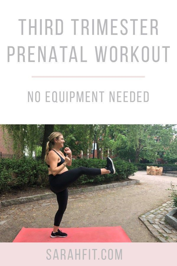 Third Trimester Prenatal Workout #2 | No Equipment Pregnancy Workout | third trimester workout | prenatal fitness | healthy pregnancy | prenatal fitness || SarahFit.com #prenatal #thirdtrimester #workoutvideos