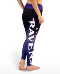 Baltimore Ravens Womens Gradient Print Leggings