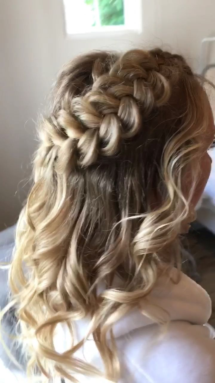 loving this chunky braid. can be worn with a dressy outfit