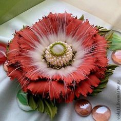 handmade leather flowers - Google Search