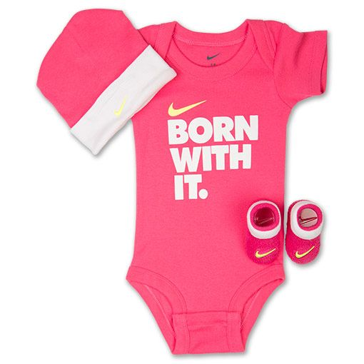 Girls' Infant Nike Born With It 3-Piece Set | Finish Line | Pink