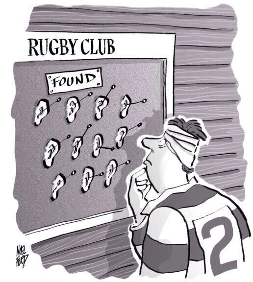 Why we use black tape around our ears!  #Rugby #Ruggers