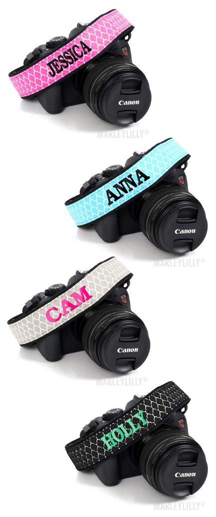 Monogrammed Camera Strap from Marleylilly.com
