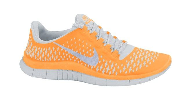 Zapatillas de running para hombre Nike - Free 3.0 V4 Naranja Gris Plata,Fashionable and quality sports shoes here just for you.