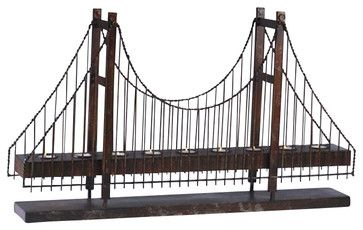 Bridge Candleholder - contemporary - candles and candle holders - Chachkies