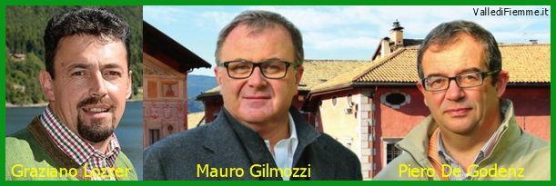 Gilmozzi, De Godenz e Lozzer, i tre moschettieri di Fiemme in Provincia
