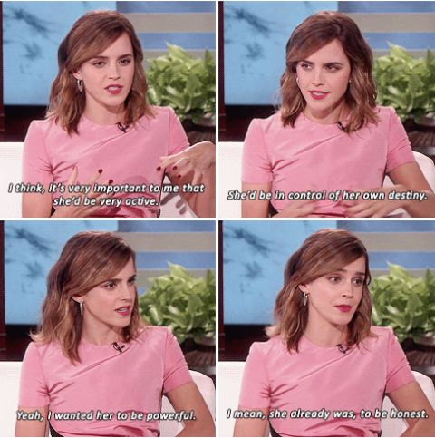 Emma Watson talks about how she wanted to play 'Belle' on The Ellen Show (03.03.17)