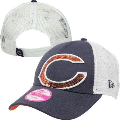 New Era Chicago Bears 9FORTY Ladies Sequin Shimmer Adjustable Hat ...