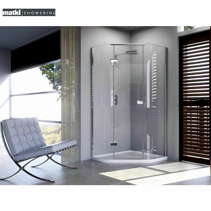 #Contemporary bathroom ideas. Matki New Illusion Quintesse with integrated Shower Tray : UK Bathrooms
