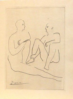 Pablo Picasso. Grâce et Mouvement. (1943).  (Reproduced drawings executed 1926-1938).