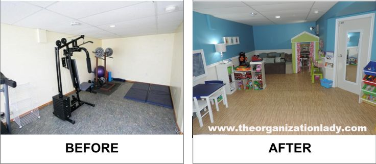 We started from scratch with this basement playroom, dividing up the space and using a variety of storage solutions that enhance and promote play based learning in the home. With a place for everything, clean-up up is quick and easy for everyone involved!