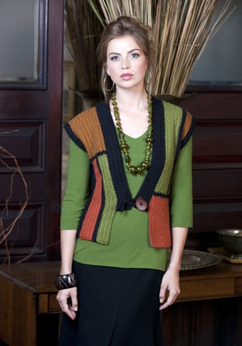 free pattern - Guilin Kimono Vest designed by Diane Moyer, also in Crochet! mag 2011-01