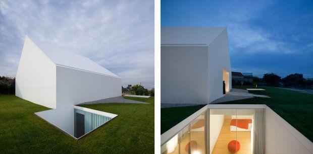 72 best under ground house images on pinterest for Minimalist underground house