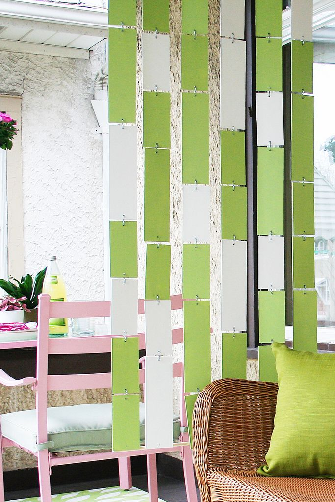 #DIY hanging room divider. Attach to the railing. Need some fatherly help on this one!