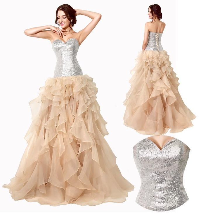 Silver Sequined Ruffles Hi Lo Corset 2016 Real Photos Special Occasion Wear Prom Gown 18th Birthday Party Dresses Under 20 From