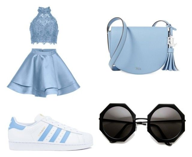 """""""Untitled #96"""" by anais-maria on Polyvore featuring Alyce Paris, adidas and Lauren Ralph Lauren"""