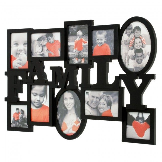 Dispay your favourite family memories in this attractive Kiera Grace Family Heritage Wall Collage Frame.
