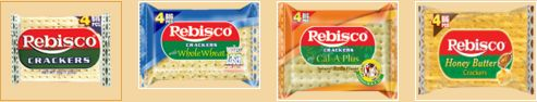 Different product category of Rebisco Crackers *Rebisco Crackers with Whole Wheat *Rebisco Crackers with Cal A Plus *Rebisco Crackers with Honey Butter