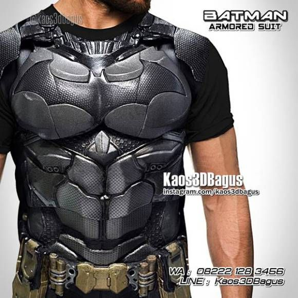 Kaos BATMAN, Kaos KOSTUM BATMAN, Kaos SUPERHERO, Kaos3D, Kaos Batman ARMORED SUIT, Batman VS Superman, Dawn Of Justice, https://kaos3dbagus.wordpress.com, WA : 08222 128 3456, LINE : Kaos3DBagus