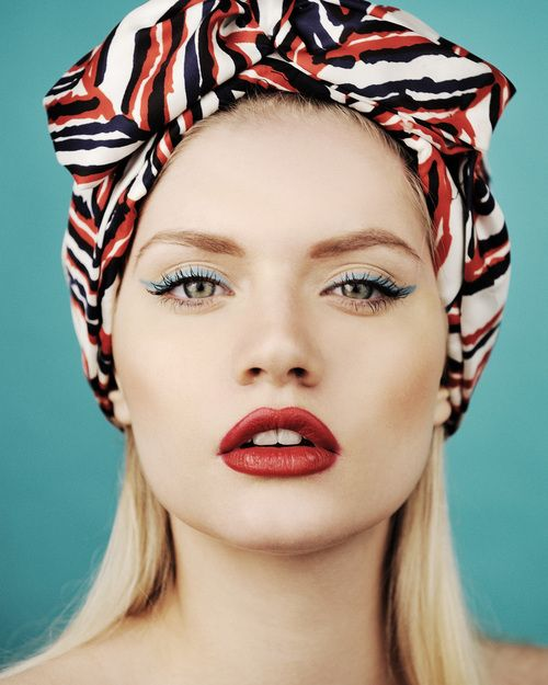 Style is Style: Face, Make Up, Style, Makeup, Red Lips, Beauty, Hair, Head Scarf, Eye