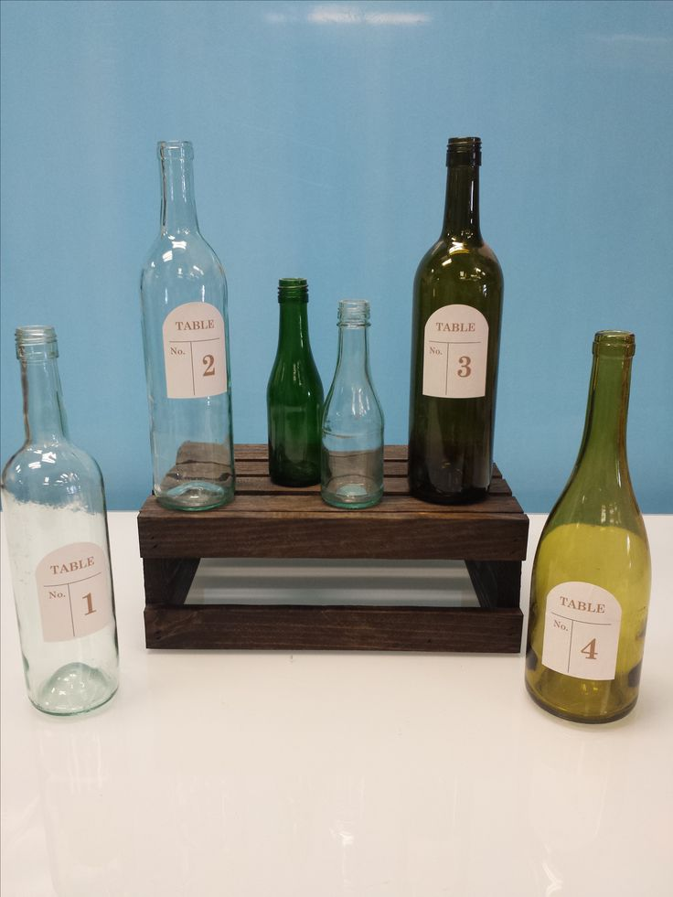 Wine bottle table numbers Available amount 1 5