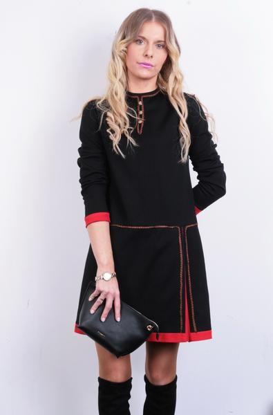 Diolen Loft Womens 40 S Dress Black Gold Inserts Austria Red Bottom - RetrospectClothes