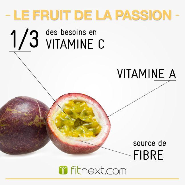 [FIT'ALIMENT] Le fruit de la passion ne porte pas son nom pour rien !  Riche en nutriment, Vitamine C et A cela en fait un atout de choix pour l'organisme. Il peut également se venter d'avoir des vertus digestives tout en diminuant votre cholestérol. #prenezlecontrole  Alors pourquoi s'en priver les Fit's ?