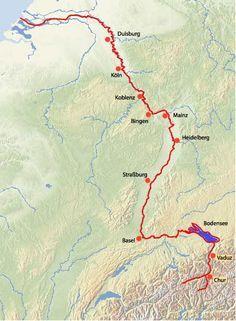 Rheinradweg: Fahrradtouren entlang des Rheintales