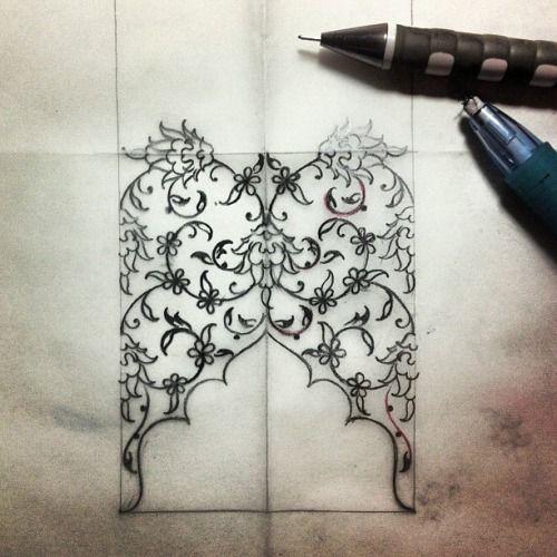 Drawing for tezhip Dilari Yarci