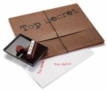 Top Secret® Folder, Rubber Stamp and Ink Pad