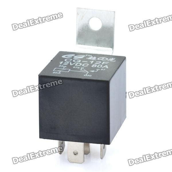 Color: Black - PVC material housing - Working voltage: DC 12V - Current: 80A - 5-pin plug - Great replacement for your fault car replay http://j.mp/1kU5DNE