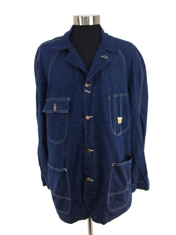 Vintage 50s 60s PAYDAY Denim Work Jacket XL | chore wear