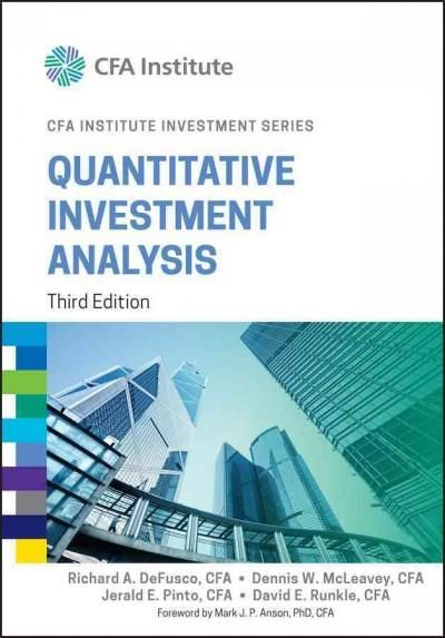Quantitative Investment Analysis (Hardcover) Products - investment analysis