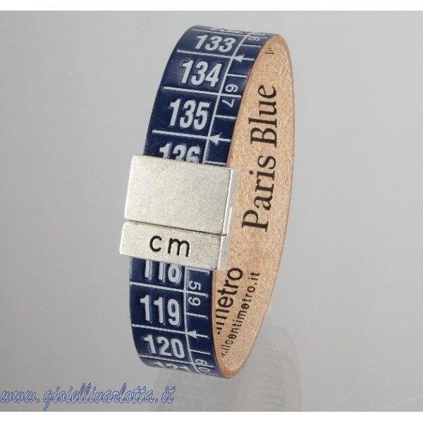 Bracciale Il centimetro Blu scuro e Bianco Paris Blue http://www.gioiellivarlotta.it/product.php?id_product=1420