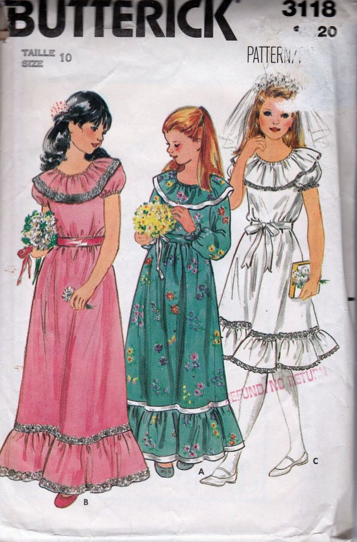 100 besten Vintage Sewing Patterns Girls 1960\'s & 1970\'s Bilder auf ...