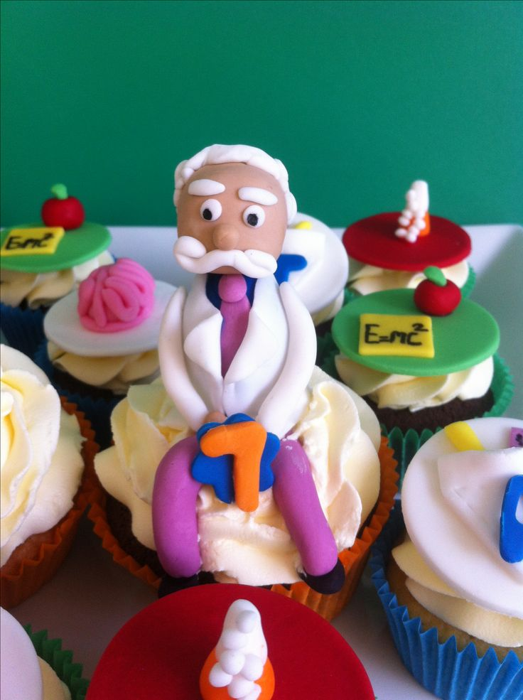 Science Party Cupcakes