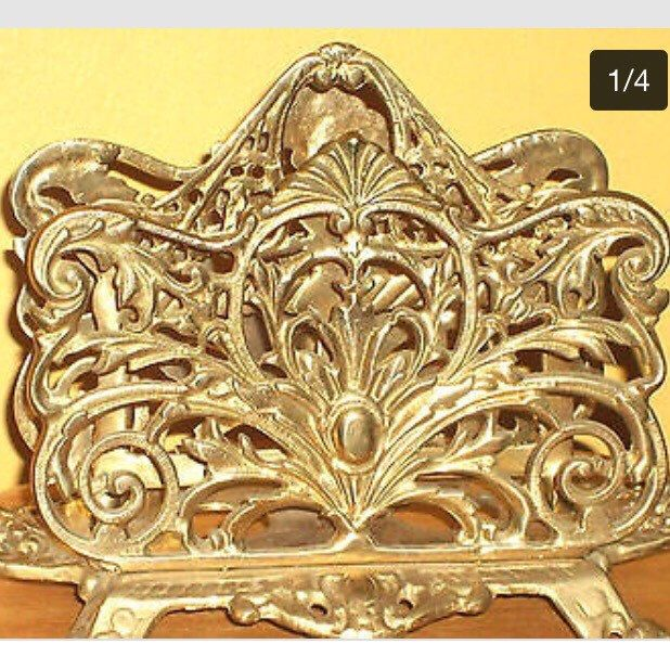 A personal favorite from my Etsy shop https://www.etsy.com/listing/293728475/vintage-victorian-napkin-holder-heavy-34