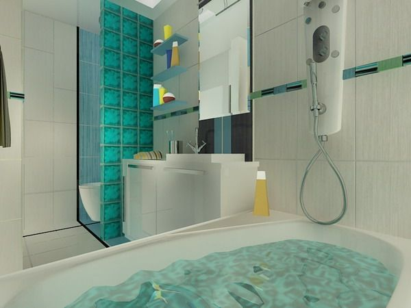 Baños Hermosos Con Tina:Docwest Apartment by Retro The choice of color and decorative