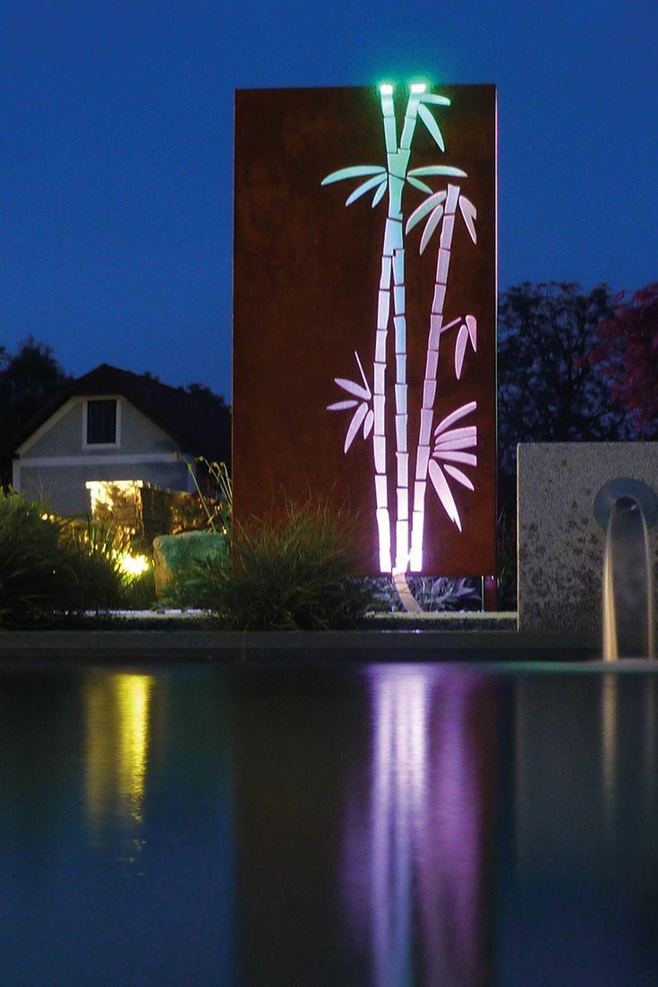 Sichtschutzwand Mit Led Beleuchtung Sichtschutzwande Led Beleuchtung Terrassenbeleuchtung