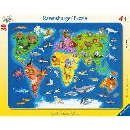 Puslespill med verdenskart