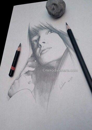 #girl #portrait pencil on paper