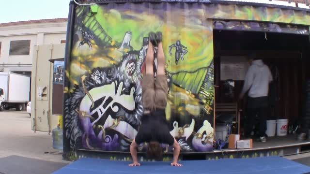Handstand Push Up with Wall | Gymnastics WOD
