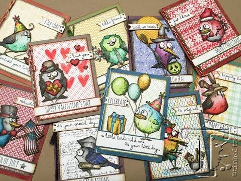 Check out the latest video from Tim Holtz featuring the Bird Crazy & Crazy Things Stamps and Dies from Stampers Anonymous and Sizzix...
