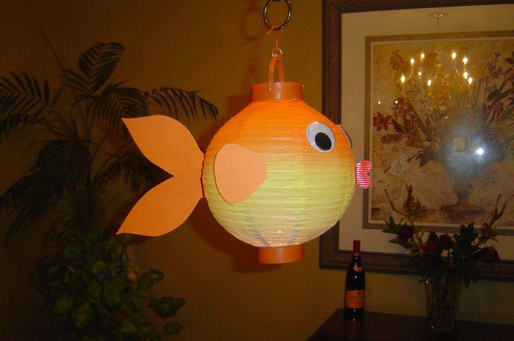 71 best nautical nursery images on pinterest nautical for Paper lantern fish