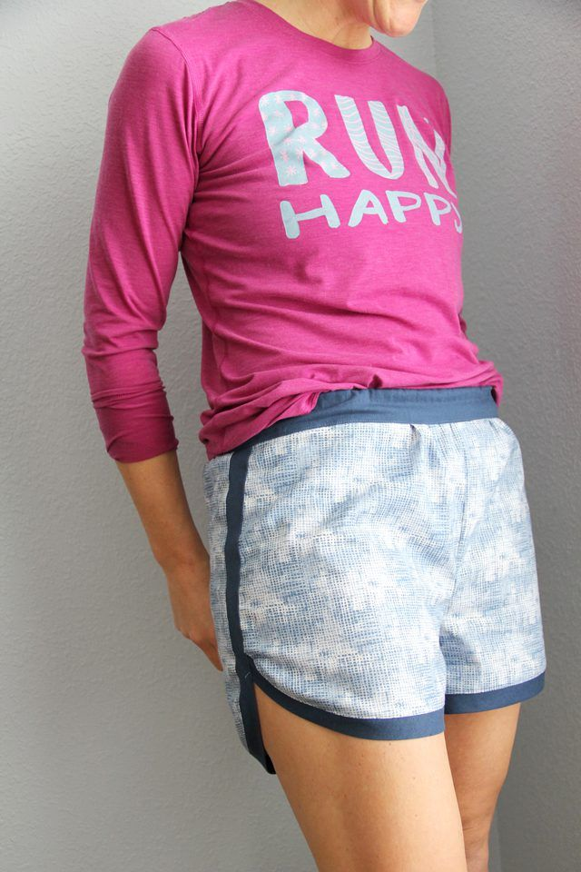 Sew a pair of women's gym shorts using our free gym shorts pattern for a great pair of casual shorts to wear this summer.