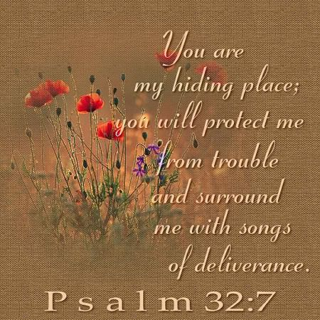 Psalm 32:7 -- He is our Hiding Place.: Hiding Places, Inspiration, Bible Quotations, Christian Quotes, Scripture, Songs Singing, Psalms Verses, Bible Ver, Psalms 32 7