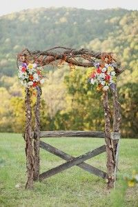Wooden Floral Arch. Don't know if this is your type of thing, but I think it's gorgeous!