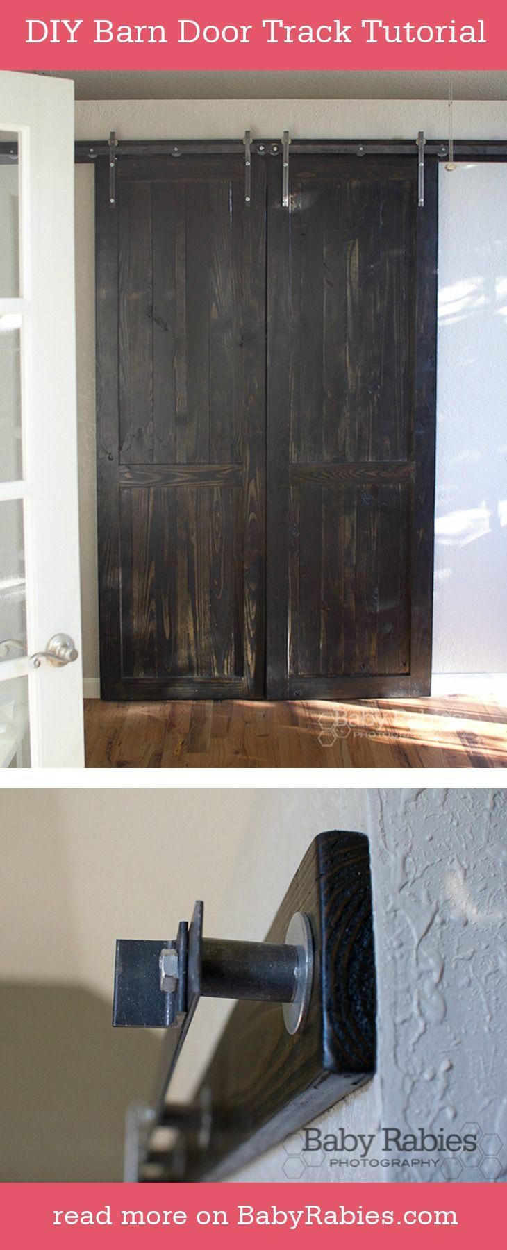 Barn door hardware rlp v track rectangular hanger reclaimed lumber - Diy Barn Door Track Tutorial Diy Decorating Homedecor